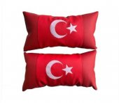 Ortopedik Türk Bayrağı Araç Boyun Yastığı 2 ADET