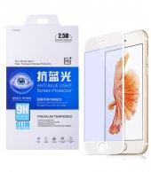 İphone 6,6s Plus Anti Blue Light Renkli Full Kaplame Cam Ekran Koruyucu - BEYAZ