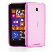 Nokia Lumia 630  Ultra Slim Soft Silikon Kılıf - AÇIK PEMBE