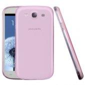 Galaxy S3 İ9300 0.20mm Spada Ultra Slim Soft Silikon Kılıf - AÇIK PEMBE