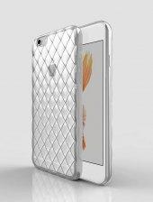 İPhone 6,6s Darbe Emici 3d Kristal Sefaf Silikon Kılıf