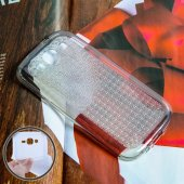 Galaxy Grand İ9082 İ9060 Kristal Soft Silikon Kılıf - FÜME