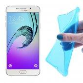 Samsung Galaxy A7 (2016) A710 Ultra Slim Soft Silikon Kılıf - MAVİ