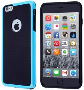 İPhone 6 Plus,İPhone 6s Plus Bumper Silikon Kılıf - TURKUAZ