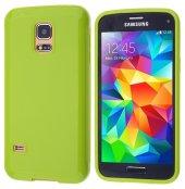 Galaxy S5 Mini Silikon Kılıf - FISTIK YEŞİLİ