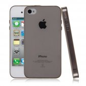 İPhone 4G- İPhone 4S Ultra Slim Soft Silikon Kılıf - FÜME