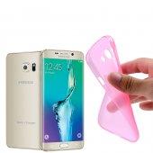 Samsung Galaxy S6 Edge+ Plus G928 Ultra Slim Soft Silikon Kılıf - PEMBE
