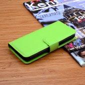 Galaxy S5 Mini Standlı Cüzdan Kılıf - YEŞİL