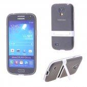 Samsung Galaxy S4 Mini Gt İ9190 Standlı Silikon Kılıf - GRİ