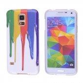Galaxy S5 İ9600 G900 Gök Kuşağı Desenli Silikon Kılıf - DESENLİ 7