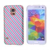 Galaxy S5 İ9600 G900 Gök Kuşağı Desenli Silikon Kılıf - DESENLİ 5
