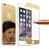 İPhone 6 Plus -6S Plus On& Arka Renkli Cam Ekran Koruyucu - GOLD