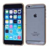 İphone 6,6s Plus Şeffaf Silikon Bumper Kılıf - GOLD