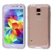Galaxy S5 İ9600 Şeffaf Silikon Bumper Kılıf - METAL