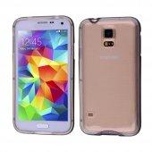 Galaxy S5 İ9600 Şeffaf Silikon Bumper Kılıf - SİYAH