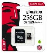 Kingston SDCS2 256GB microSDHC Canvas Select Plus 100R A1 C10 MicroSD Hafıza Kartı