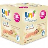 Uni Baby Yenidoğan Islak Pamuk Mendil 10lu (400 Yaprak)