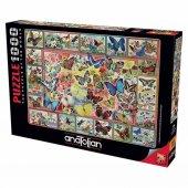 Anatolian 1000 Parça Puzzle Kelebekler / Lots Of Butterflıes 61x6