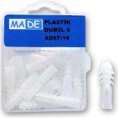 Made Plastik Dubel 6Mm ( 1 Kutu:18 Adet) ST-01