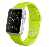 Apple Watch 5-4 44MM 3-2-1 42MM Silikon Kordon,Kayış - YEŞİL
