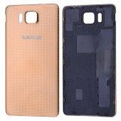 Samsung Galaxy Alpha G850f İçin Arka Kapak Pil Batarya Kapağı - GOLD