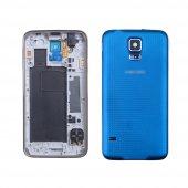 Samsung Galaxy S5 İ9600 G900 İçin Full Kasa Kapak - MAVİ