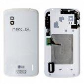 Lg Google Nexus 4 E960 Arka Kapak Pil Kapağı - BEYAZ