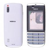 Nokia Asha 300 Full Kasa Kapak - KIRMIZI