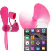 2in1 İPhone Ve Andoid Telefon Tabletler İçin Mini Fan - PEMBE