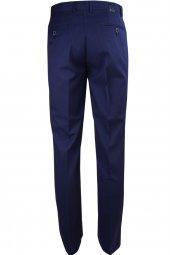Ekek Armüllü Açık Lacivert Klasik Keten Pantolon