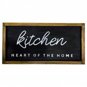 Kitchen Heart Of The Home Dekoratif Ahşap Tablo 50x25