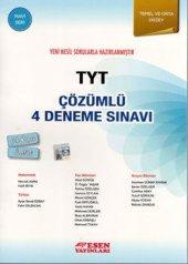 Esen Yayınları TYT Çözümlü 4 Deneme Sınavı Mavi Seri