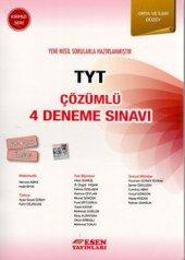 Esen Yayınları TYT Çözümlü 4 Deneme Sınavı Kırmızı Seri