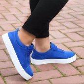 BA0104 Bağcıklı  Nubuk Mavi Spor Klasik Erkek Ayakkabı