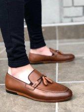 BA0113 İçi Dışı Hakiki Deri Taba Püsküllü Corcik Klasik Erkek Ayakkabı