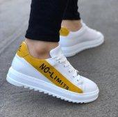 BA0027 No Limits Beyaz Sarı Bağcıklı Casual Erkek Spor Ayakkabı