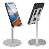 MÜHLEN GL083 - Gümüş  Katlanabilir, Taşınabilir ve Evrensel Telefon/Tablet Standı