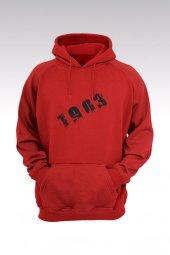 BJK 01 Kırmızı Kapşonlu Sweatshirt - Hoodie