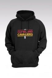 Cleveland 22 Siyah Kapşonlu Sweatshirt - Hoodie