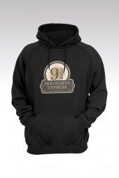 Harry Potter 61 Siyah Kapşonlu Sweatshirt - Hoodie