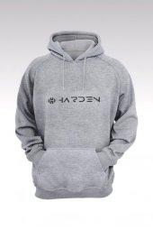 James Harden 78 Gri Kapşonlu Sweatshirt - Hoodie