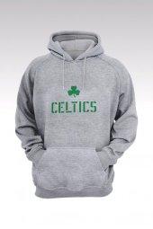 Boston Celtics 27 Gri Kapşonlu Sweatshirt - Hoodie
