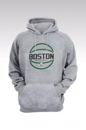 Boston Celtics 30 Gri Kapşonlu Sweatshirt - Hoodie