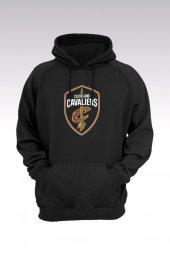 Cleveland 39 Siyah Kapşonlu Sweatshirt - Hoodie