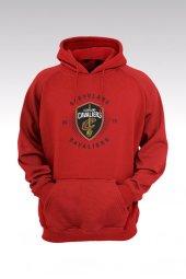 Cleveland 42 Kırmızı Kapşonlu Sweatshirt - Hoodie
