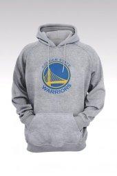 Golden State Warriors 50 Gri Kapşonlu Sweatshirt - Hoodie