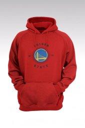 Golden State Warriors 53 Kırmızı Kapşonlu Sweatshirt - Hoodie