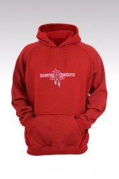 Houston Rockets 66 Kırmızı Kapşonlu Sweatshirt - Hoodie