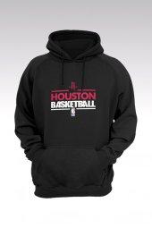 Houston Rockets 68 Siyah Kapşonlu Sweatshirt - Hoodie