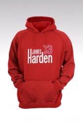 James Harden 79 Kırmızı Kapşonlu Sweatshirt - Hoodie